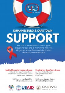 Joburg support group for gay and bisexual men living with HIV @ Dr. Jonsson Rooms | Johannesburg | Gauteng | South Africa